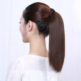 假发马尾女长直发绑带式逼真假马尾中长款马尾辫短直发