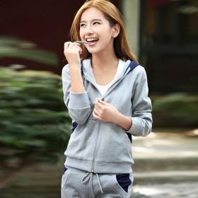 春装运动套装两件套学生长袖休闲运动服春秋女士纯棉