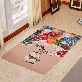 60/90厘米日式招财猫地毯地垫飘窗玄关地垫