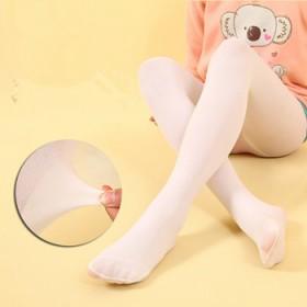 春秋款儿童连裤袜女童舞蹈袜子白色宝宝丝袜女童打底裤