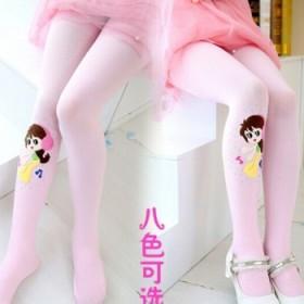 春款儿童芭蕾舞蹈袜子公主跳舞女童打底连裤袜天鹅绒