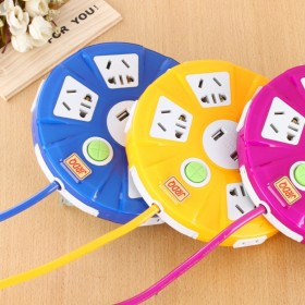 桌面智能插座 水果USB充电插座 多功能柠檬插座