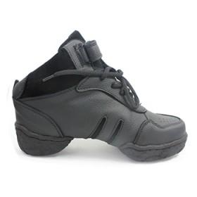 舞蹈鞋 软底增高真皮 女式广场舞鞋 爵士跳舞鞋新款