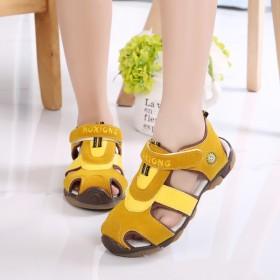 儿童凉鞋防滑包头女童凉鞋中大童童鞋男童运动沙滩鞋