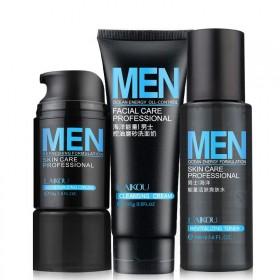 男士护肤保湿面霜爽肤水洗面奶补水滋润三件套