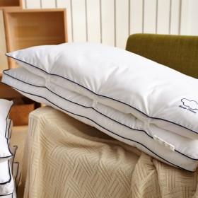 恒源祥枕芯全棉枕头双层羽丝绒枕芯可调节护颈枕头