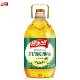 绿源井冈 非转基因食用油物理压榨茶籽橄榄调和油5L