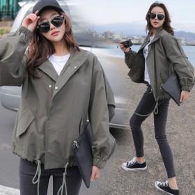 春秋学生百搭韩版短款宽松bf风工装短外套女装
