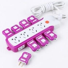 【包邮】大功率插座带电源开关家用插线板多孔2米