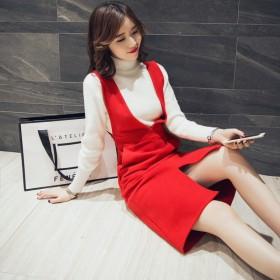 春季小香风职业毛衣女套装连衣裙休闲修身两件套