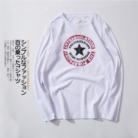 圆领打底衫日系复古休闲卡通体恤韩版印花长袖T恤