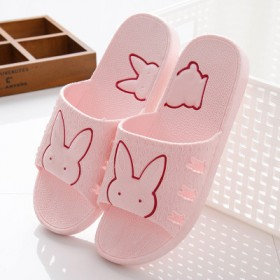 浴室拖鞋防滑洗澡漏水家居家室内厚底男女塑料可爱情侣