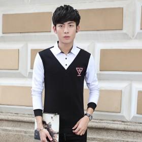 春季新款男士衬衫韩版修身长袖衬衣