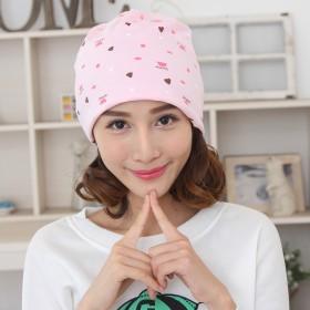 月子帽 纯棉两用产妇帽 防头风月子头巾妈咪帽