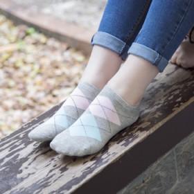 5双装女士短袜子棉四季运动隐形防臭短筒浅口低帮船