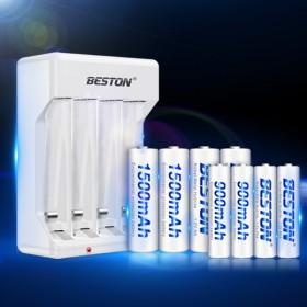 通用充电电池充电器套装 5号7号共8节电池可充遥控
