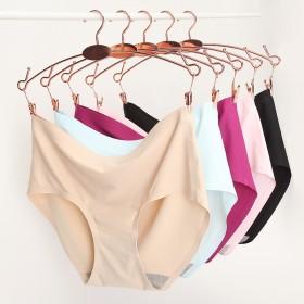三条装无痕冰丝内裤女提臀透气性感薄款