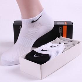 5双男袜纯棉防臭运动袜子男士短袜跑步袜