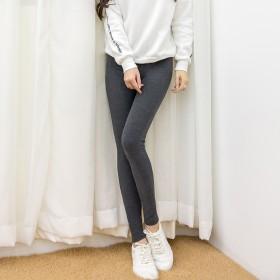 春秋季打底裤女薄款纯棉显瘦外穿不抽丝高腰紧身黑色九