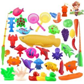 儿童磁性双面立体鱼钓鱼玩具套装