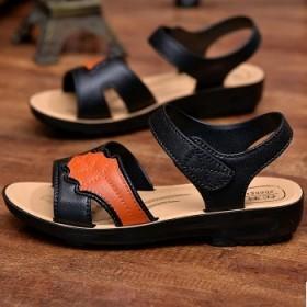 新款气质凉鞋女软底休闲鞋妈妈鞋