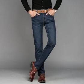 男士牛仔裤男春季修身直筒商务休闲男裤
