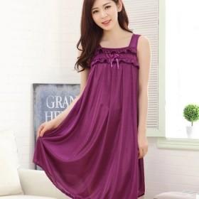 女夏季冰丝吊带睡裙性感公主丝绸薄款甜美连衣裙