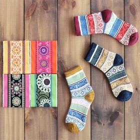 【25款自由搭配】5双装 日系纯棉个性小清新短袜