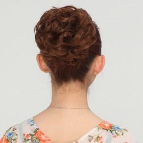 假发发包女小丸子头短卷花苞拉绳扣式直发苞盘发头花假