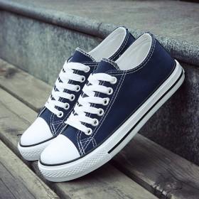 新款低帮帆布鞋硫化鞋情侣款学生鞋韩版经典男鞋潮热