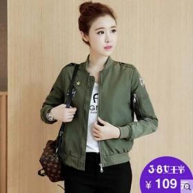小个子短外套女装春季棒球服女韩版显瘦短款风衣薄款