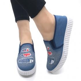 涂鸦帆布鞋休闲平底布鞋
