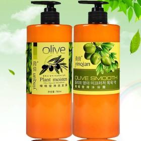 橄榄洗沐洗护两大瓶套装750mlX2