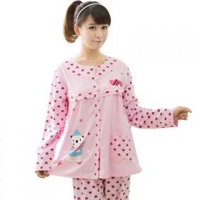 孕妇睡衣 春季纯棉月子服 哺乳睡衣套装