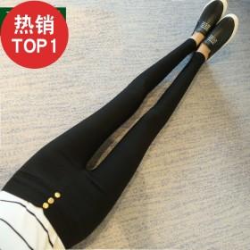 女士弹力紧身大码高腰小脚铅笔外穿修身显瘦打底裤