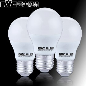 T雷士照明 LED灯泡 E27大螺口3W 超亮球泡