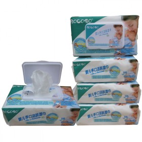 邦可士BOCOSO婴儿湿巾100抽带盖宝宝手口湿纸