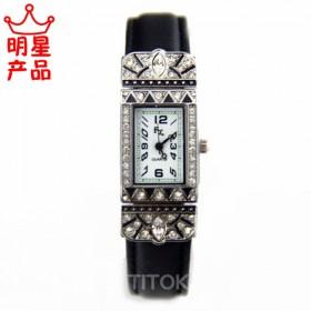 美国原单品牌限量版女士石英手表日本机芯复古黑时尚商