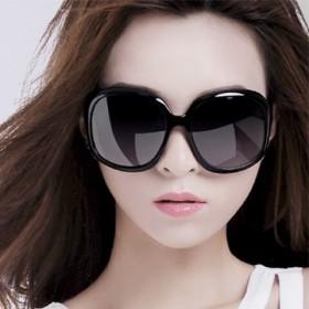 圆脸明星款时尚韩版太阳眼镜长脸 个性墨镜