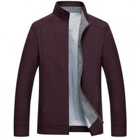 2016秋季新品夹克男 薄款中年立领夹克男士茄克衫