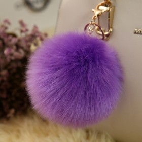 可爱毛球挂件时尚皮草包包挂件毛绒钥匙扣毛毛球挂饰