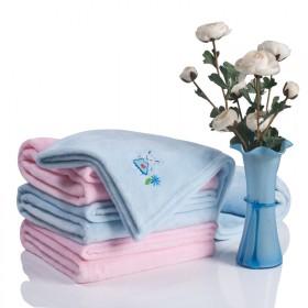 婴儿加绒仿拉舍尔盖毯新生儿加大柔软毯子