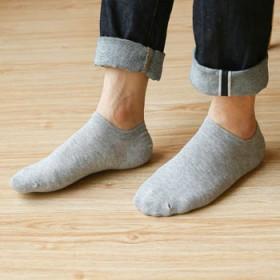 【5双盒装】纯棉男士船袜,夏季全棉短袜吸汗防臭袜