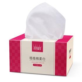 巴巴罗莎婴儿棉柔巾 100抽格格棉柔巾干湿两用