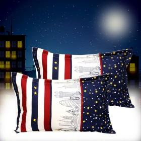 斜纹磨毛大枕套一对2只装9色可选