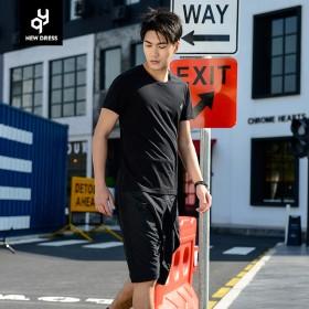 仟营男装 2017夏季新款短袖T恤修身韩版上衣