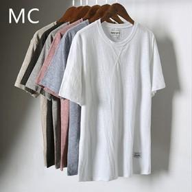 男士短袖T恤 纯色体恤 男装修身衣服