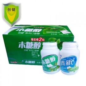 京东1盒6瓶草莓西瓜薄荷3种口味各2瓶木糖醇口香糖