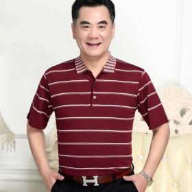 中年男短袖T恤冰丝爸爸装
