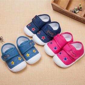 宝宝学步鞋软底春秋0-1-3岁婴儿棉布单鞋男女儿童